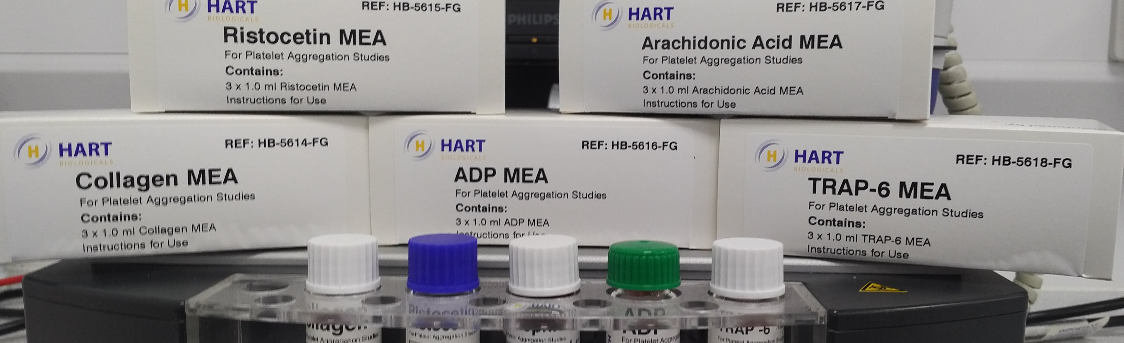 Meet the family of new MEA platelet aggregation reagents from Hart Bio Image