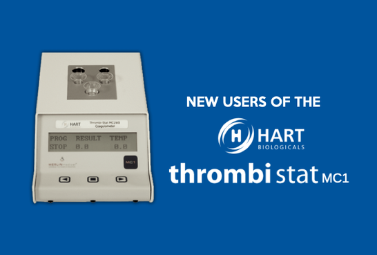 New users of the Hart Biologicals Thrombistat MC1WB System Image